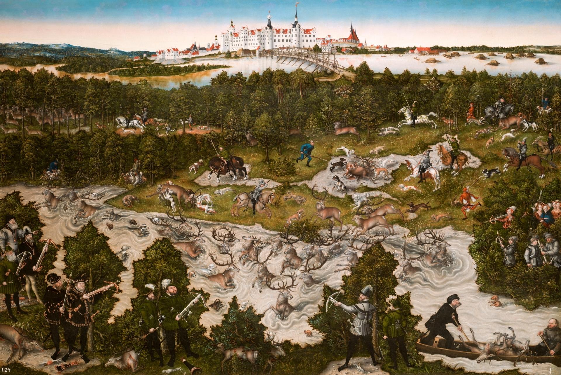 Cacería en el castillo de Torgau en honor de Fernando I - Colección ...