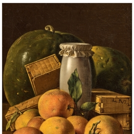 Still Life with Oranges, Honey-Jar, Boxes of Sweetmeats and Watermelons