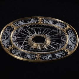 Rock crystal salver with gadrooned decoration