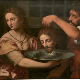 Salomé recibiendo la cabeza del Bautista