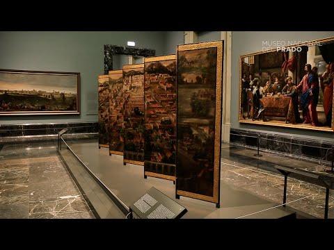 Biombo de la Conquista de México y La muy noble y leal ciudad de México -  Exposición - Museo Nacional del Prado