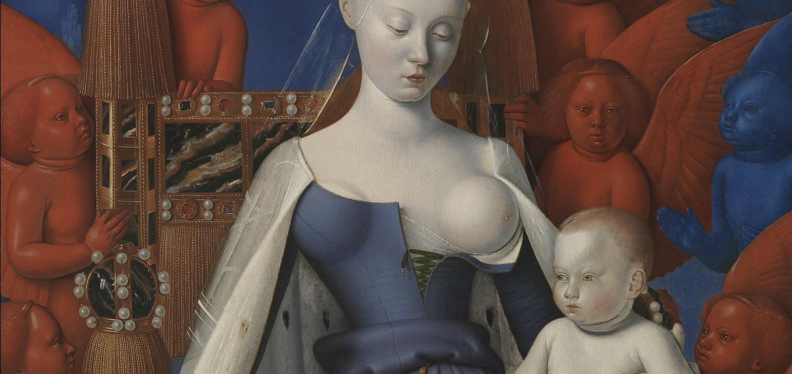 The invited work: The Virgin and Child with Angels, Jean Fouquet