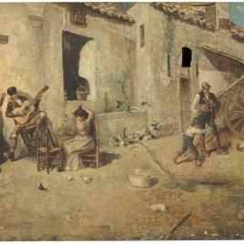El tocador al aire libre, o Patio andaluz
