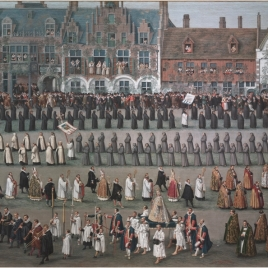 Celebration of the Ommegang in Brussels: the procession of Our Lady of the Sablon