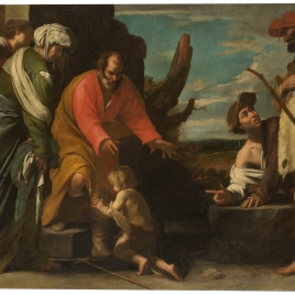Saint John the Baptist leaving his Father's House