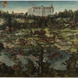Cacería de venados en el castillo de Torgau en honor de Carlos V