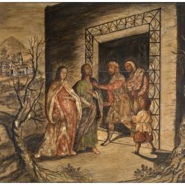 La Virgen y San José pidiendo posada