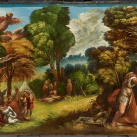 Llegada de los troyanos a las islas Estrófades y ataque de las arpías