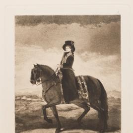 La reina María Luisa a caballo
