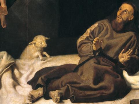 <em>San Francisco confortado por un ángel músico</em>, Francisco Ribalta, comentada por Federico Sopeña