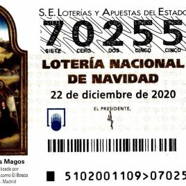 Billete de Lotería Nacional para el sorteo de 22 de diciembre de 2020