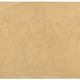 Mater Salvatoris (Capilla de las Letanías de la Iglesia de Notre Dame de Lorette, París).