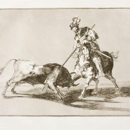 El Cid Campeador lanceando otro toro