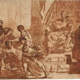 La cabeza de Pompeyo presentada a César