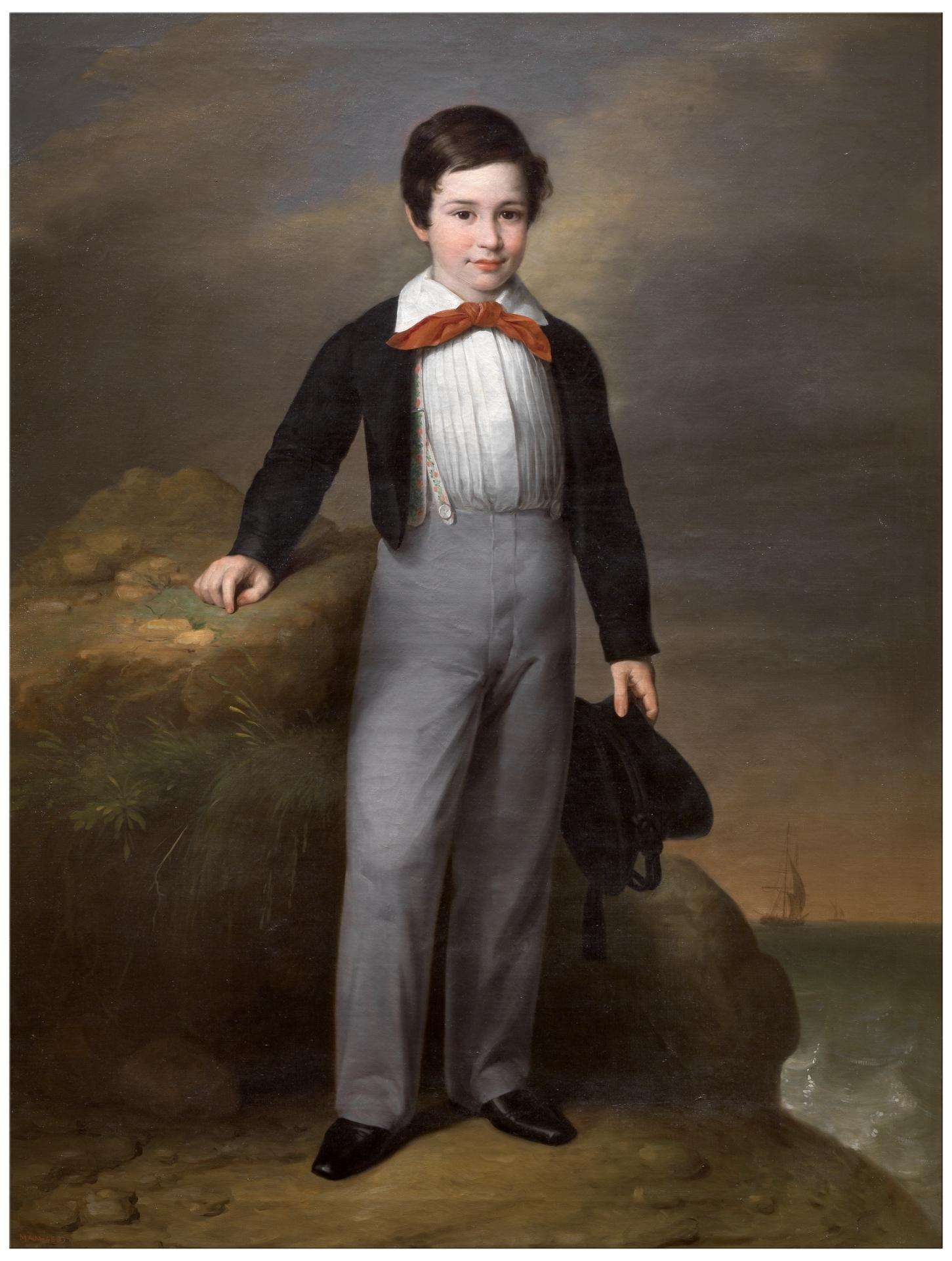 Resultado de imagen de Manuel Flores Calderón Antonio María Esquivel Hacia 1842. Óleo sobre lienzo.