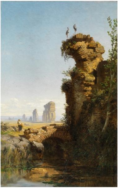 Paisaje con ruinas