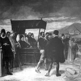 Última visita de Felipe II a El Escorial
