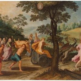 Alegoría del mes de Agosto con el triunfo de Ceres y el signo de Virgo