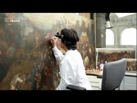 Restauración de la obra El vino de la fiesta de San Martín de Bruegel el Viejo