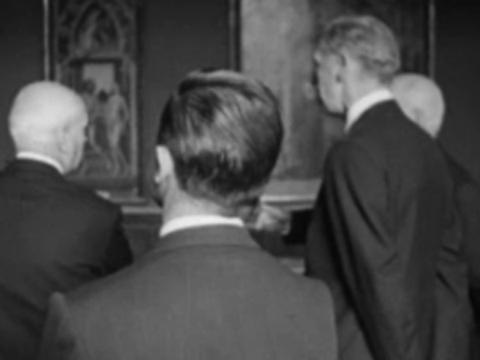 Maurice Couve de Murville visita al Museo del Prado