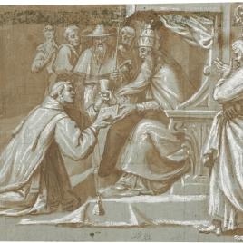 San Lorenzo ordenado diácono por San Sixto