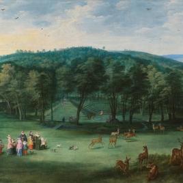 La infanta Isabel Clara Eugenia en el parque de Mariemont