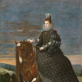Queen Margaret of Austria on Horseback