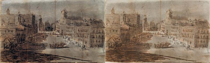 <em>La calle</em> h. 1800-1808 boceto del Real Observatorio Astronómico