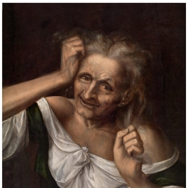 Old Woman tearing at her Hair
