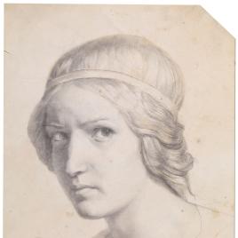 Estudio para la cabeza de un ángel (Capilla de la Eucaristía, iglesia de Nuestra Señora de Loreto, París)