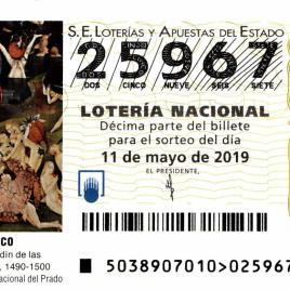 Billete de Lotería Nacional para el sorteo de 11 de mayo de 2019
