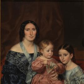 Antonia Cabo, con su hermana y su hijo Mariano Barrio