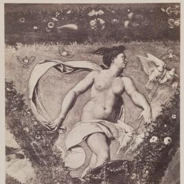 """""""Venus en el carro"""", pintura al fresco en la Villa Farnesina de Roma"""