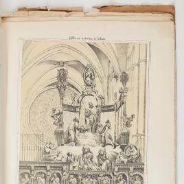 Transfiguración de Cristo, detalle del coro de la Catedral de Toledo