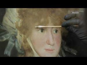 Avance de la restauración de La condesa de Chinchón, de Francisco de Goya (1800)