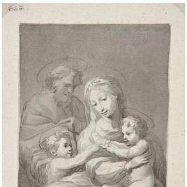Virgen con el Niño, San Juanito y San José