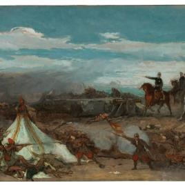 Episodio de la Batalla de Tetuán, 1860