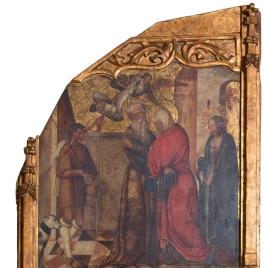 Abrazo ante la Puerta Dorada y nacimiento de la Virgen