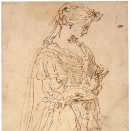 Figura femenina arrodillada