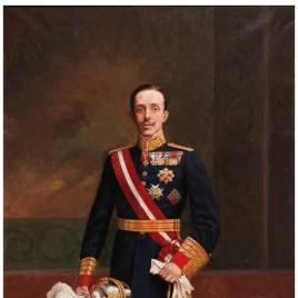 Alfonso XIII, con uniforme de capitán general