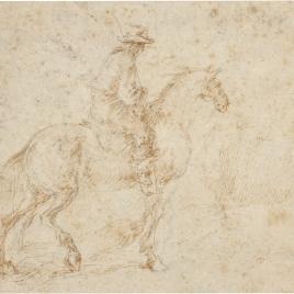 Apunte de soldado a caballo