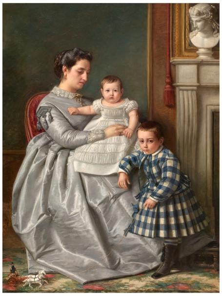La esposa e hijos del pintor