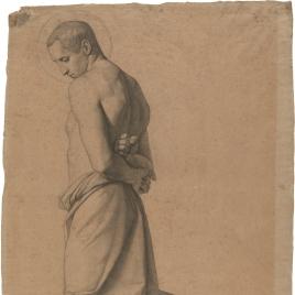 Estudio de San Sebastian (Regina Martirum. Capilla de las Letanías de la Iglesia de Notre Dame de Lorette, París)