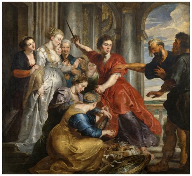 Aquiles descubierto por Ulises y Diómedes