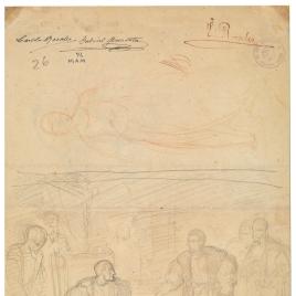 Visita de Carlos V a Francisco I en la Torre de los Lujanes. Tobías y el ángel / Francisco I sentado con un paje y un caballero. San Rafael