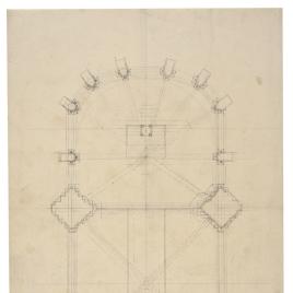 Planta del altar y crucero de la Catedral de Oviedo