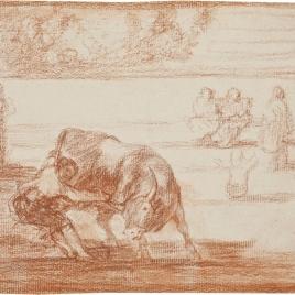 El mismo vuelca un toro en la plaza de Madrid
