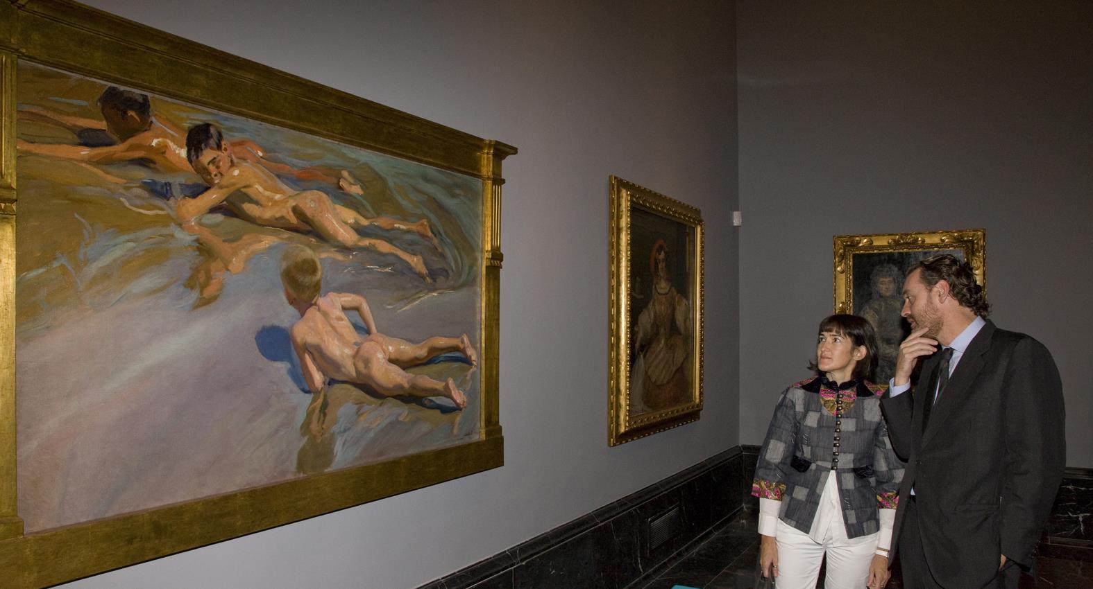 La ministra de Cultura visita las nuevas salas del Museo dedicadas al siglo XIX que se inaugurarán próximamente
