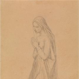 Estudio para Santa Genoveva (Regina Virginum. Serie Capilla de las Letanías de la Iglesia de Notre Dame de Lorette, París).