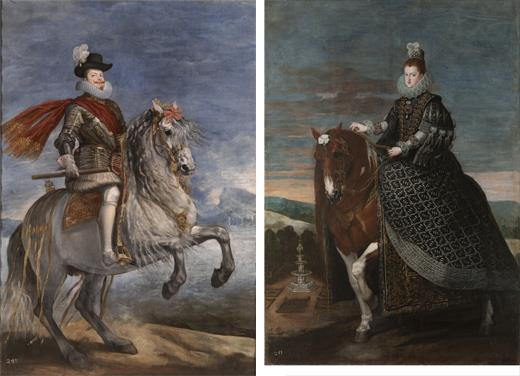 Velázquez's  equestrian portraits of Philip III and Margaret of Austria regain their quality and original composition